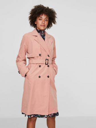 Roze trenchcoat
