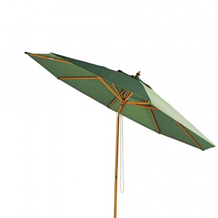 Parasol avec toile verte