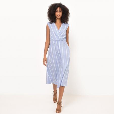 Midi-jurk zonder mouwen