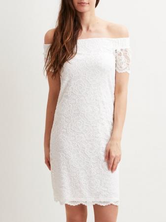 Mini-jurk in kant