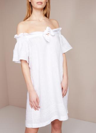 Mini-jurk met strikdetail