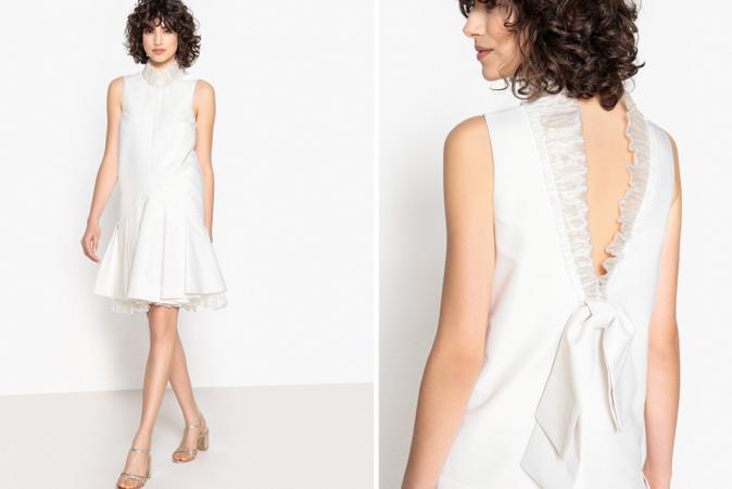Mini-jurk met onderrok in tule en strik