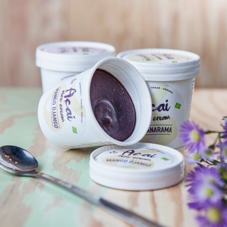 Açai Nice Cream in 'Coco Choka', 'Bananarama' en 'Mango Django'