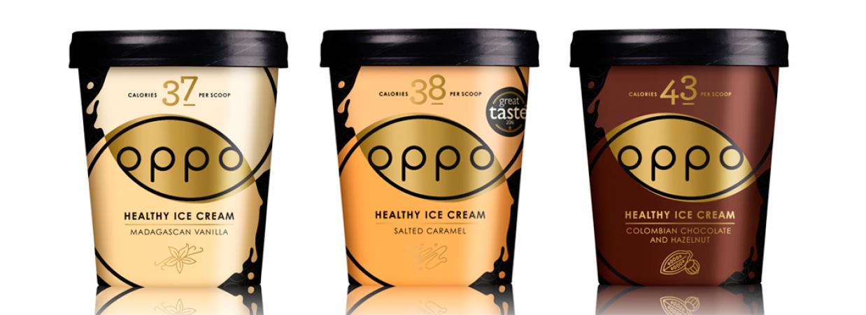 Oppo in vanille, gezouten karamel en chocolade-hazelnoot