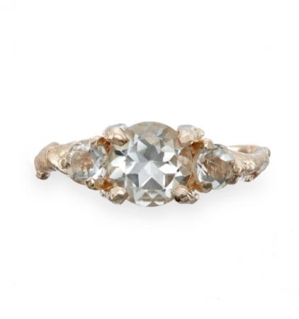 Gouden ring metprasioliet
