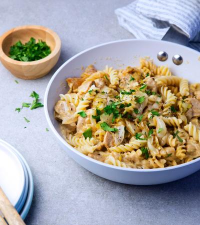 Maandag: spirelli met kip, witloof en boursin
