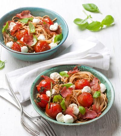 Donderdag: snelle pasta met kerstomaatjes en bacon