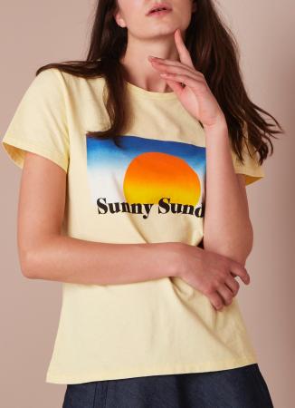 Geel T-shirt 'Sunny Sunday'