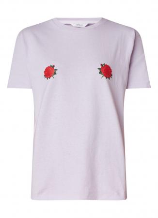 T-shirt met rozen