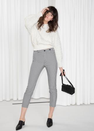 Zwarte pantalon met hoge taille