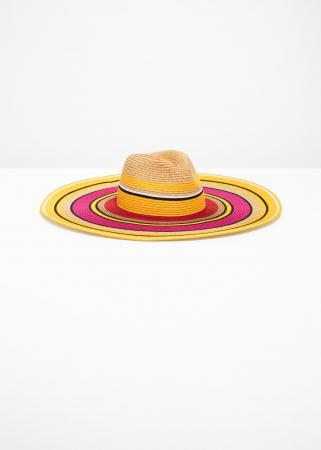 Chapeau ample multicolore