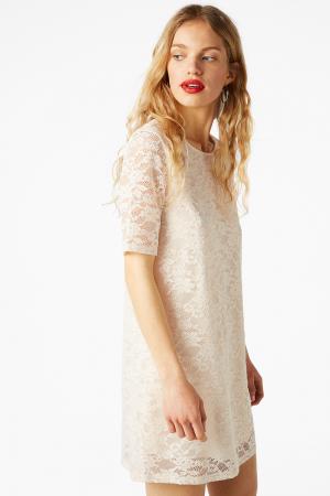 Witte kanten mini-jurk
