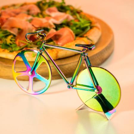 Pizzasnijder in fietsvorm