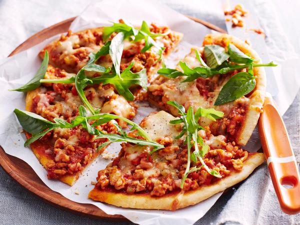 Dinsdag: pizza bolognese