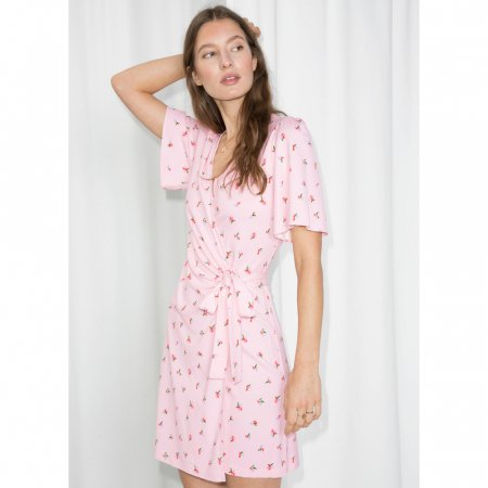 Robe portefeuille rose