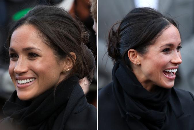Ze draagt graag <em>mismatched</em> oorbellen