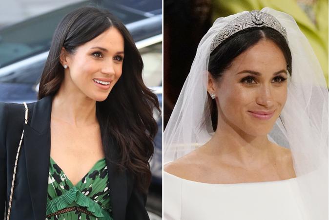 Ze droeg de oorbellen vanop haar huwelijksdag al eens eerder