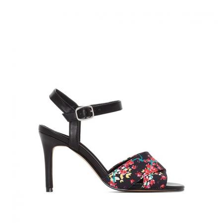 Sandales à motif floral japonisant