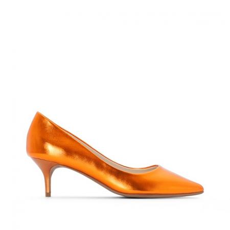 Escarpins orange métallisé