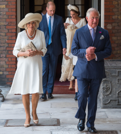 Camilla Parker Bowles en Louis' grootvader prins Charles