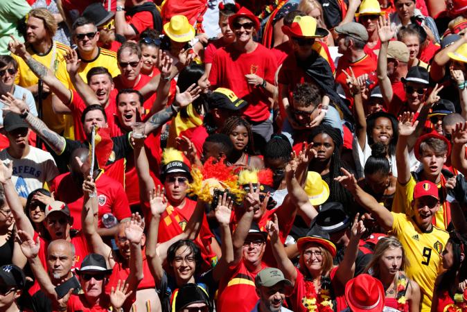 Rode Duivels gevierd in Brussel