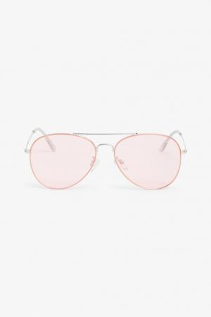 Pilotenbril met roze glazen