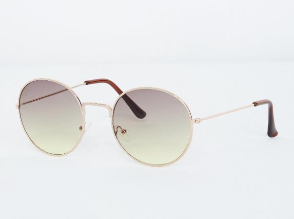 Ronde zonnebril met getinte glazen