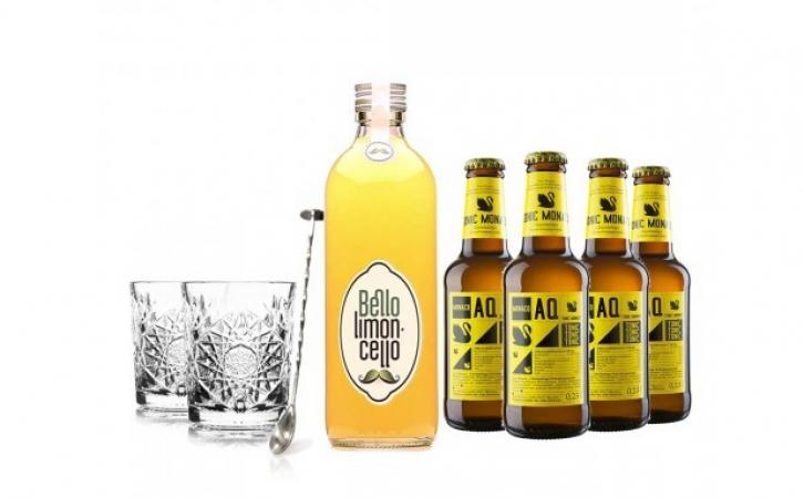 Limoncello-tonic cocktailset