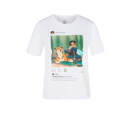 Wit T-shirt met prinses Jasmine