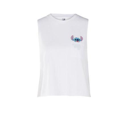 Mouwloos T-shirt met Stitch