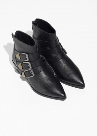 Zwarte laarsjes met buckles