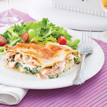 Lasagne saumon et épinards