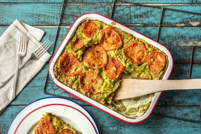 Lasagne au poulet et sauce brocolis