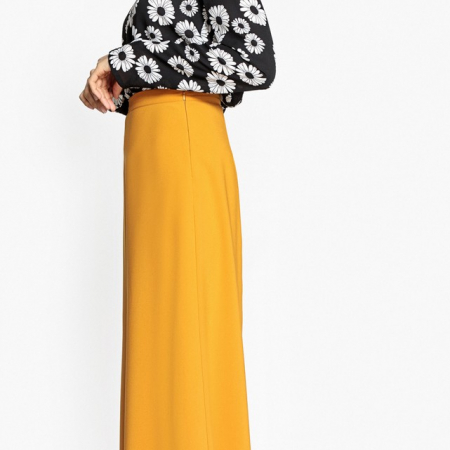 Pantalon jaune taille haute