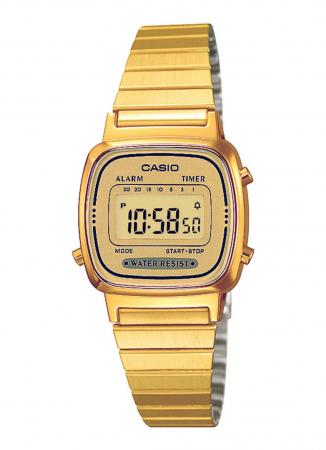 Digitale goudkleurige horloge