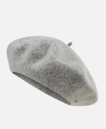 Zilvergrijze baret