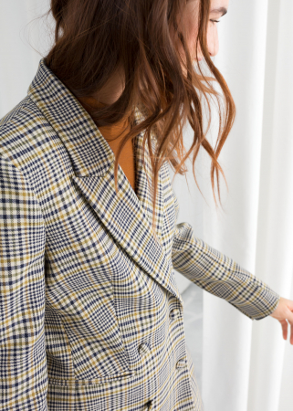 Blazer oversized à carreaux