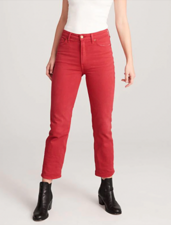 Denim in dé trendkleur: rood