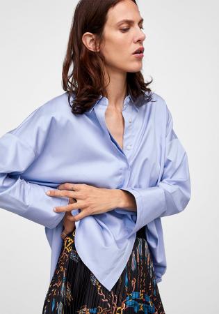 Zijdezachte blouse