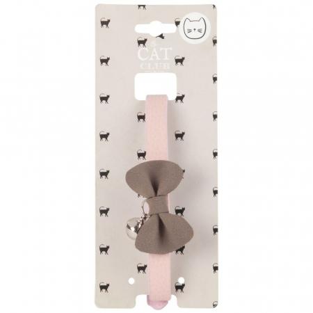 Kattenbandje met roze strik
