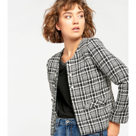 Blazer in tweed