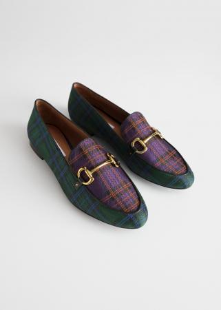 Geruite loafers