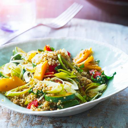 Maandag: quinoa-pilav met groenten