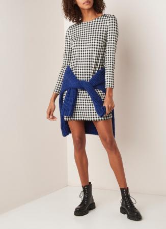 Mini-jurk met ruiten