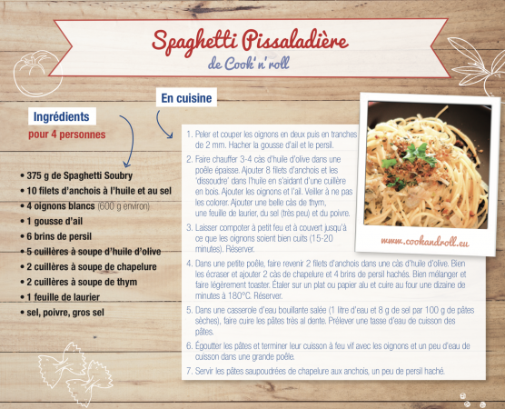 Spaghetti Pissaladière