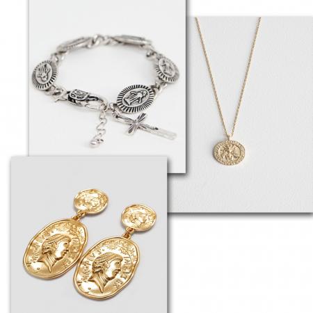 Les pièces et médaillons