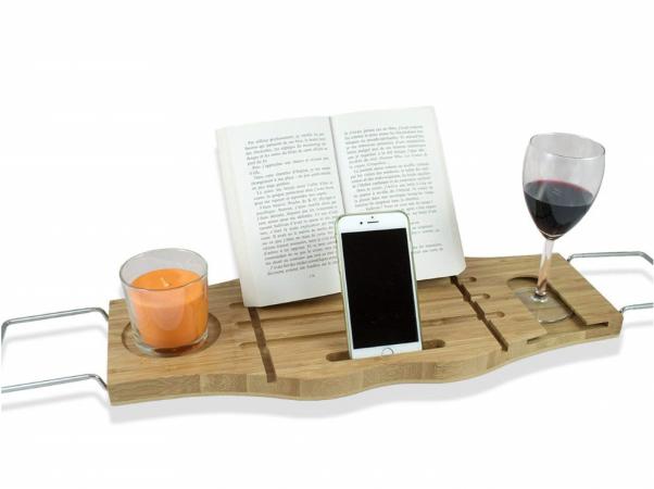 Un pont de lecture pour le bain