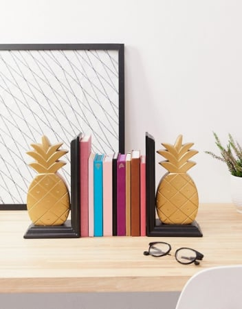 Boekensteun ananas (set van 2)