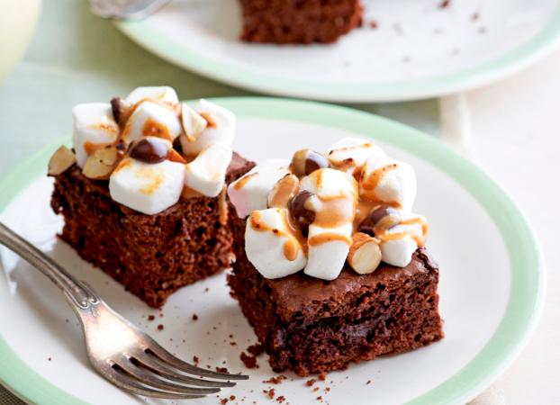 Brownies met marshmallowtopping