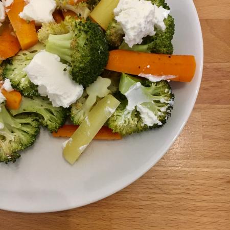 Geroosterde broccolisalade